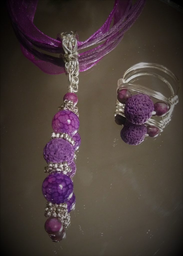 Aromatherapy Set - Necklace and Ring