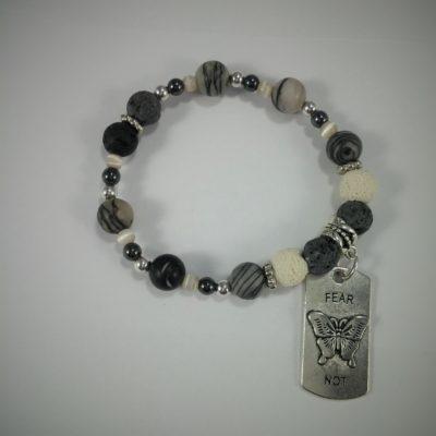 B&W Aromatherapy Bracelet