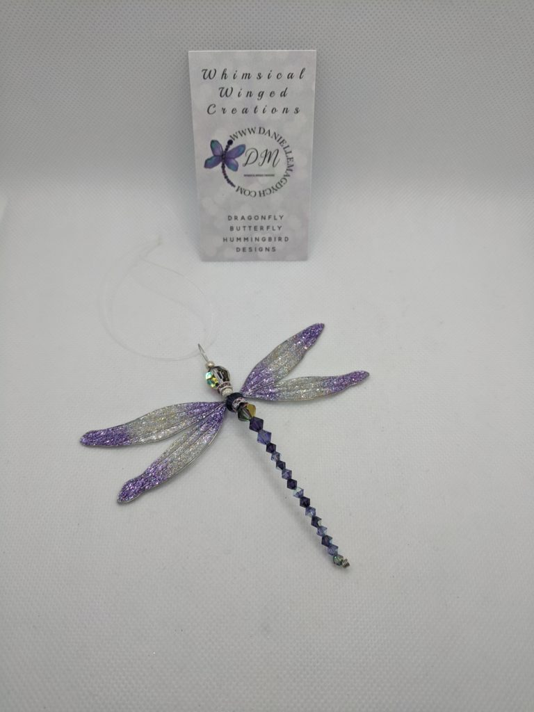 Purple Dragonfly Hanging Creation
