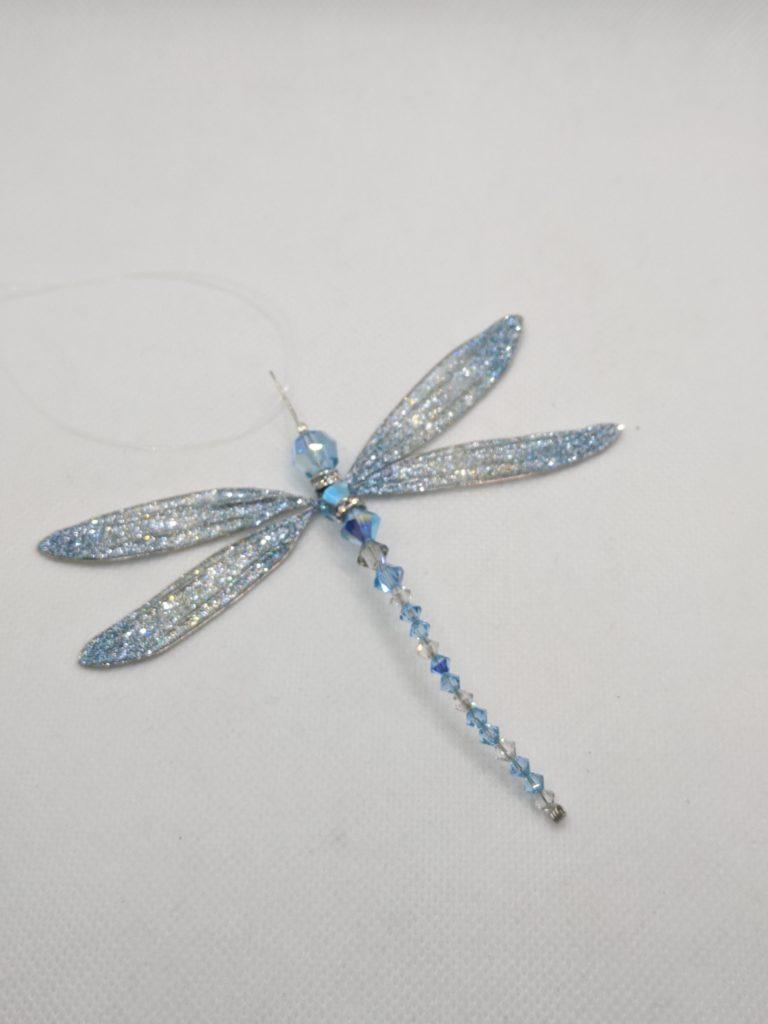 Swarovski Blue Dragonfly Hanging Creation